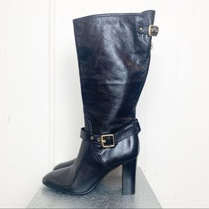 Coach Robynn Black Leather High Heeled Boots